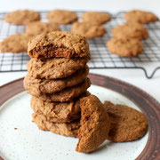 healthy cookies with ground ginger, cardamom, and molasses - by homemade nutrition - www.homemadenutrition.com