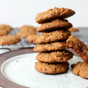 homemade healthy cookies with molasses, ginger, and cardamom - by homemade nutrition