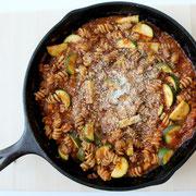 healthy skillet lasagna! - by homemade nutrition - www.homemadenutrition.com