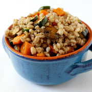 light barley salad with roasted vegetables