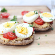 Open Faced Hummus and Egg Breakfast Sandwich Recipe