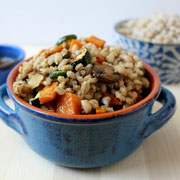 roasted veggie barley salad