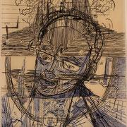 Gewissen des Forschers (technische Zeichnung, Tusche ) 30,4x21 Leipzig Thomas Bolte