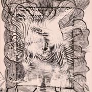 Weg zur Seele J. ( Papier, Druck, Tusche, Feder) 42x34 Leipzig Thomas Bolte
