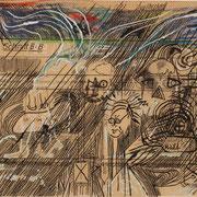Fabriklabyrinth ( technische Zeichnung, Buntstift, Tusche ) 15,8x 33,5 Leipzig Thomas Bolte