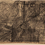 Die gefangenen Seelen ( technische Zeichnung, Feder ) 19,5x29,7 Leipzig Thomas Bolte