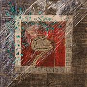 Erscheinungen (Tusche, Collage, Siebdruckfarbe ) 38,5x31,5 Leipzig Thomas Bolte
