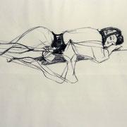Antje Püpke . Rarität - Asiatisch I . 2012 . Zeichenkohle auf Papier . 40cmx60cm . 199,-€