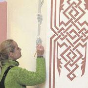 Wandmalerei Restaurierung Saalbau Neuhausen / Fildern