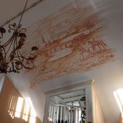 Wandgemälde englische Reitszene