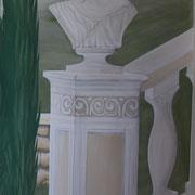 Graumalerei Frauenkopfbüste mit venezianischer Säule
