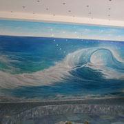 """Wandmalerei """"Die Welle"""""""