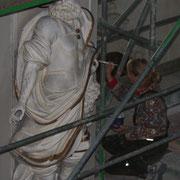 Skulptur Restaurierung in der Stadtpfarrkirche St. Peter und Paul in Lindenberg