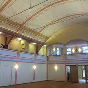 Wandmalerei Restaurierung Saalbau Neuhausen / Fildern mit Restauratoren