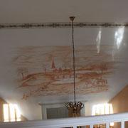 Wandmalerei englische Reitszene München