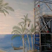 Wandmalerei Karibik Basel