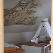 Wandmalerei im Babyzimmer