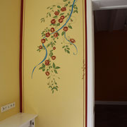Wandmalerei Stuttgart Rosenranke