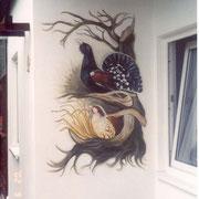 Wandmalerei Auerhahn