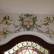 Malerei von Barockgrotesken in einem Erker