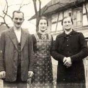 Stefan, Katharina und Ida, 1942