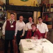 eccoli !! Nicola, Adriano, Lorenzo e Andrea, pronti per il servizio