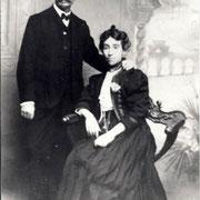 Victor RENAULT et Charlotte DOZOUL à leur mariage (1908)