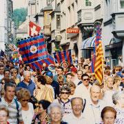 700 Barça-Fans auf dem Weg auf den Fronwagplatz