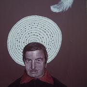 ritratto di ROBERTO DE SIMONE,anno 2014,olio su tela,70 cm x 100 cm