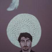 ritratto di MARCO IZZOLINO,anno 2013,olio su tela,70 cm x 100 cm