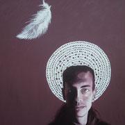 ritratto di EUGENIO VIOLA,anno 2013,olio su tela,70 cm x 100 cm