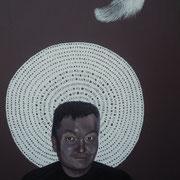 ritratto di ANGELO MARRA,anno 2014,olio su tela,70 cm x 100 cm