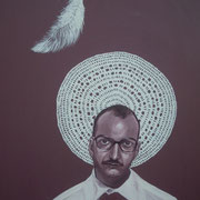 ritratto di ANTONELLO TOLVE,anno 2013,olio su tela,70 cm x 100 cm