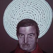 ritratto di ROBERTO DE SIMONE,anno 2014,olio su tela