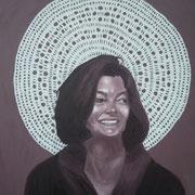ritratto di JULIA DRAGANOVIC,anno 2013,olio su tela