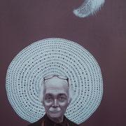 ritratto di SILVIO FRIGERIO,anno 2014,olio su tela,70 cm x 100 cm