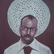 ritratto di ANTONELLO TOLVE,anno 2013,olio su tela
