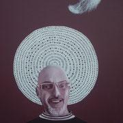 ritratto di CLAUDIO MARCINE,anno 2014,olio su tela,70 cm x 100 cm