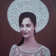 ritratto di CHIARA REALE,anno 2014,olio su tela