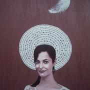 ritratto di CHIARA REALE,anno 2014,olio su tela,70 cm x 100 cm