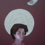 ritratto di BEATRICE SALVATORE,anno 2014,olio su tela,70 cm x 100 cm