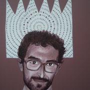 ritratto di MANLIO CONVERTI,anno 2014,olio su tela