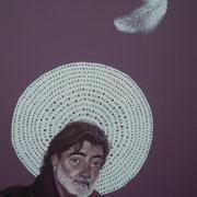 ritratto di BRUNO AYMONE,anno 2014,olio su tela,70 cm x 100 cm