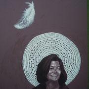 ritratto di JULIA DRAGANOVIC,anno 2013,olio su tela,70 cm x 100 cm