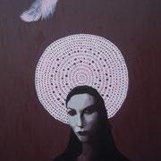 ritratto di GIULIA,anno 2013,olio su tela,70 cm x 100 cm