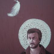 ritratto di STEFANO TACCONE,anno 2013,olio su tela,70 cm x 100 cm