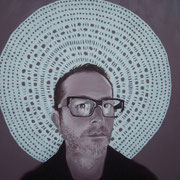 ritratto di DINO MORRA,anno 2013,olio su tela