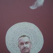 ritratto di VINCENZO SEVERINO,anno 2014,olio su tela,70 cm x 100 cm
