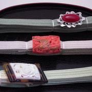 珊瑚帯留(4分巾用)