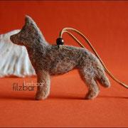 Schäferhund  ca. B 120 x 100 x T8mm, mit aufwendigen Farbdetails u. Dekoelementen (38 € *)